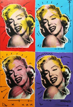 John Stango, Marilyn x 4, Acrylic on Canvas, Pop Art
