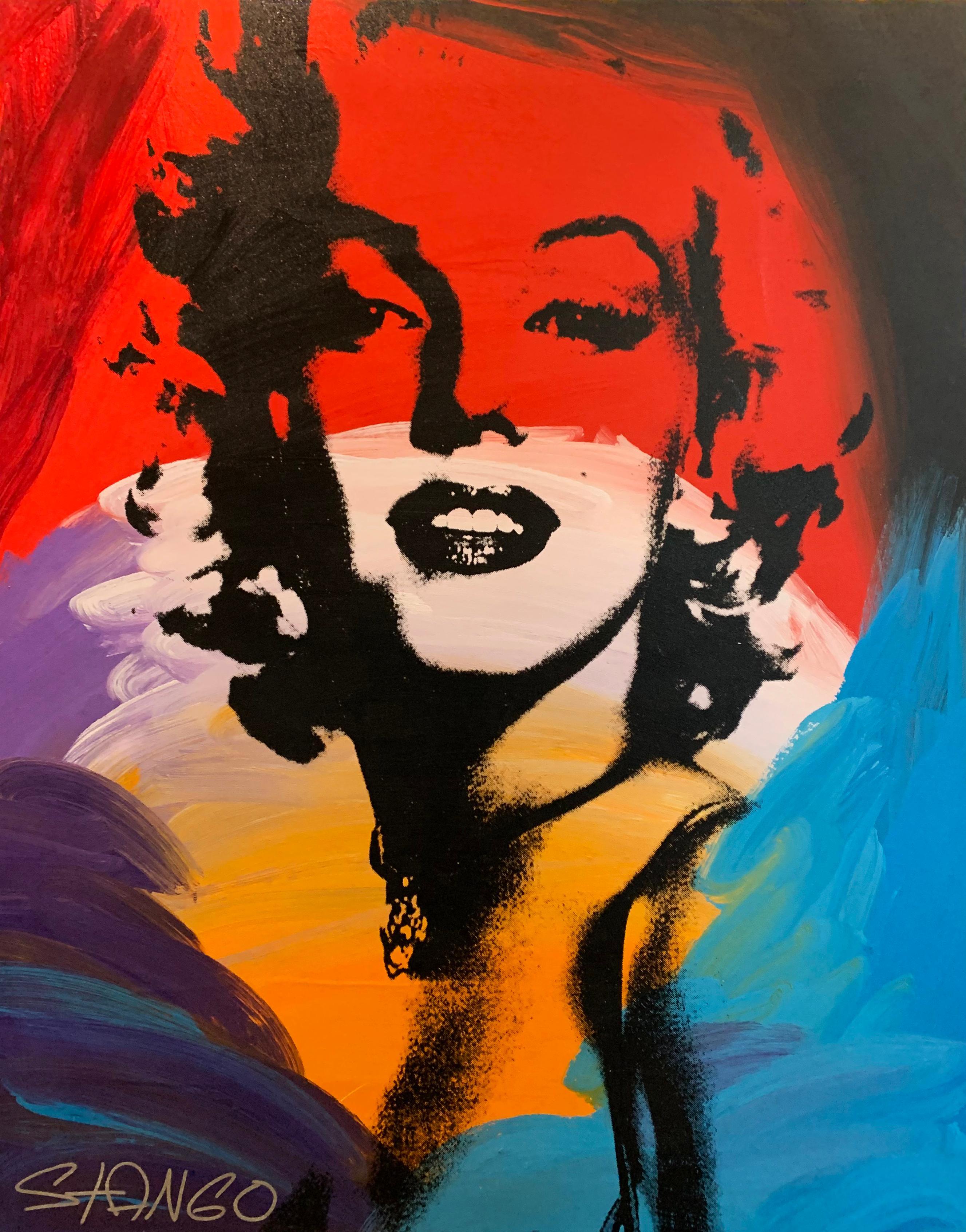 Marilyn, Pop Art Portrait of Marilyn Monroe, Acrylic on Canvas, Signed
