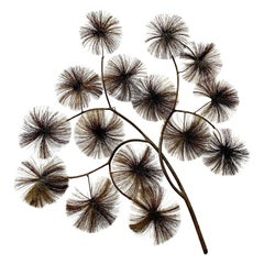 "John Steck Brutalist Modern ""Branch of Dandelions"" Wall Sculpture"