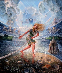 """""""Our Lady of the Foam"""", John Stephens, Acrylic Painting, Surrealism, 24x30"""