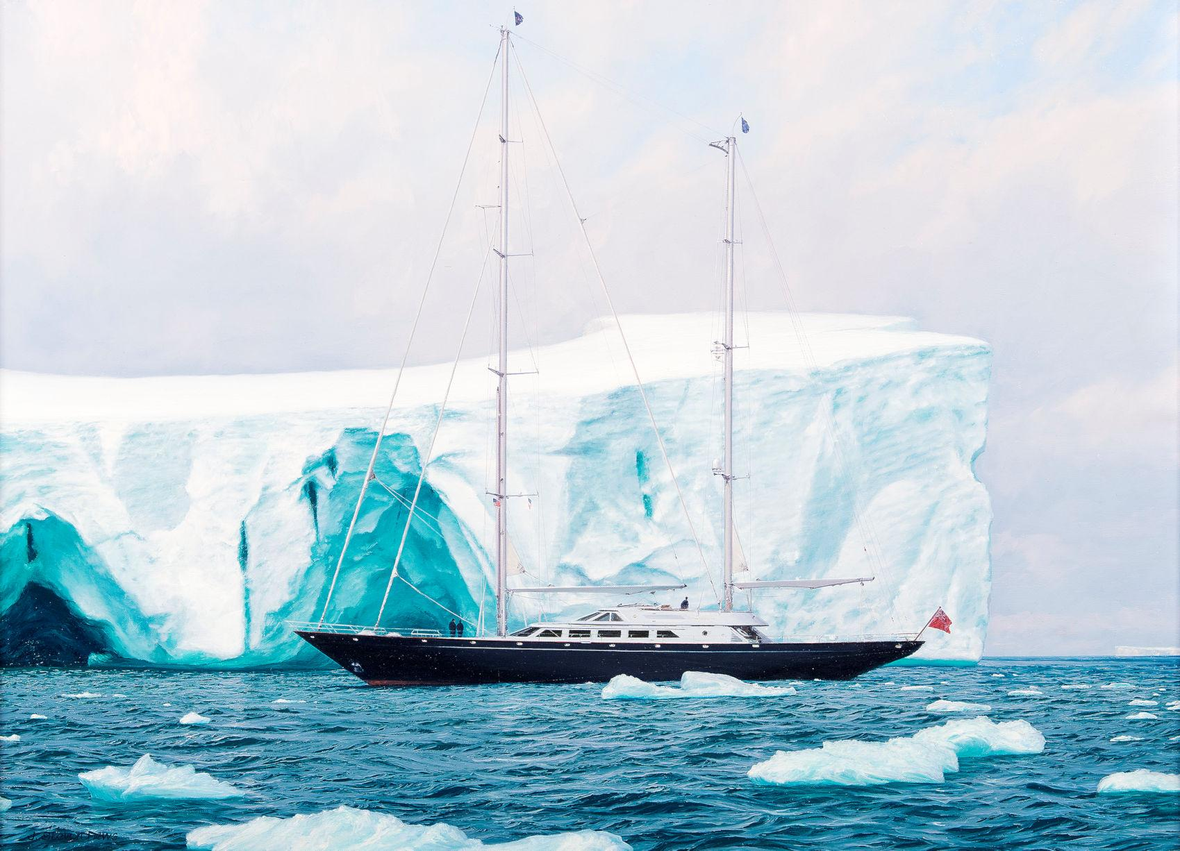 A Sailboat in the Arctic