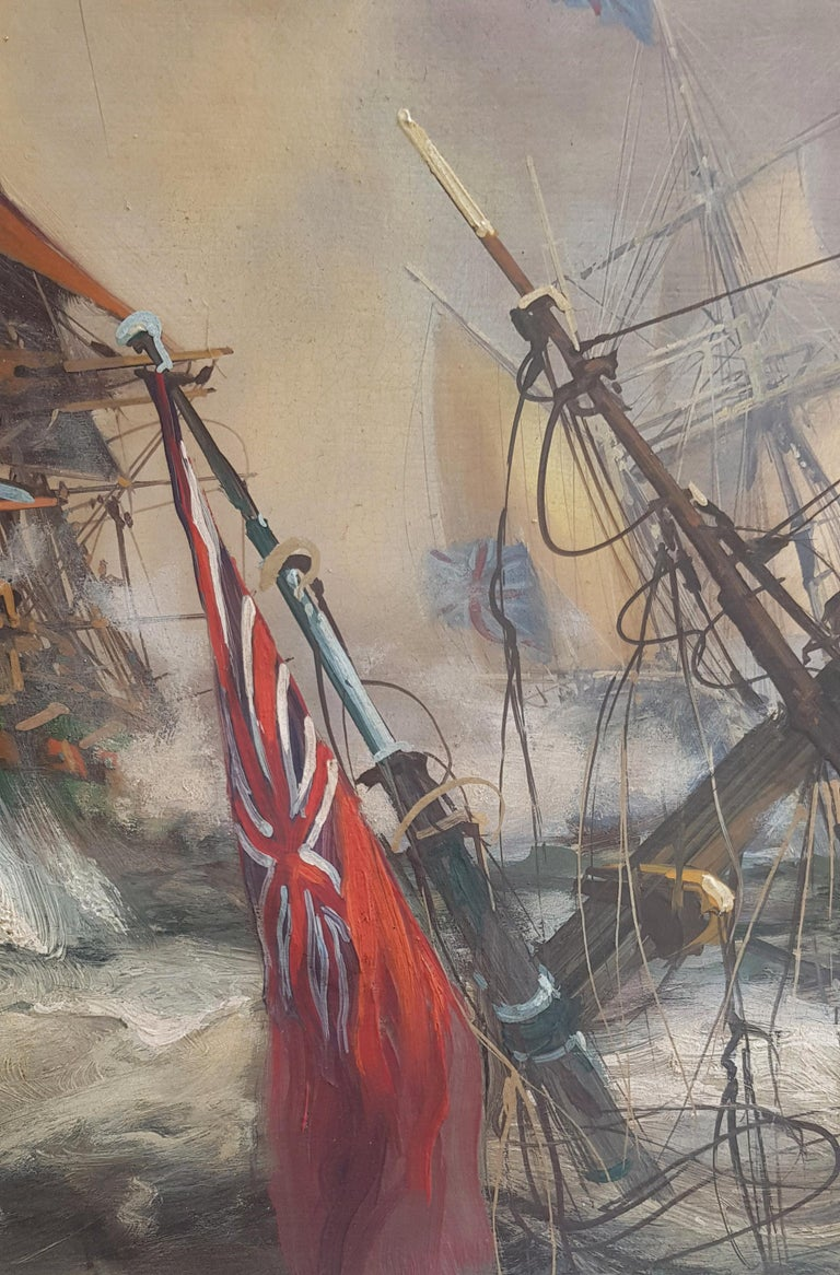 Sea Battle - John Stevens Italia 2007 - Oil on canvas cm.50x130.  Wooden frame available on request in our laboratory.