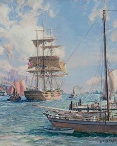 JOHN STOBART - New York, Shipping on the East River