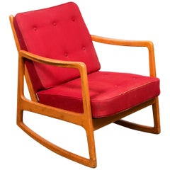 John Stuart American Mid-Century Modern Rocking Chair