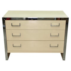 John Stuart Chrome and Lacquered Chest of Drawers