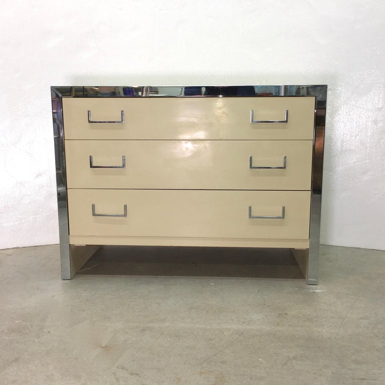 John Stuart Chrome and Lacquered Chest of Drawers For Sale 5