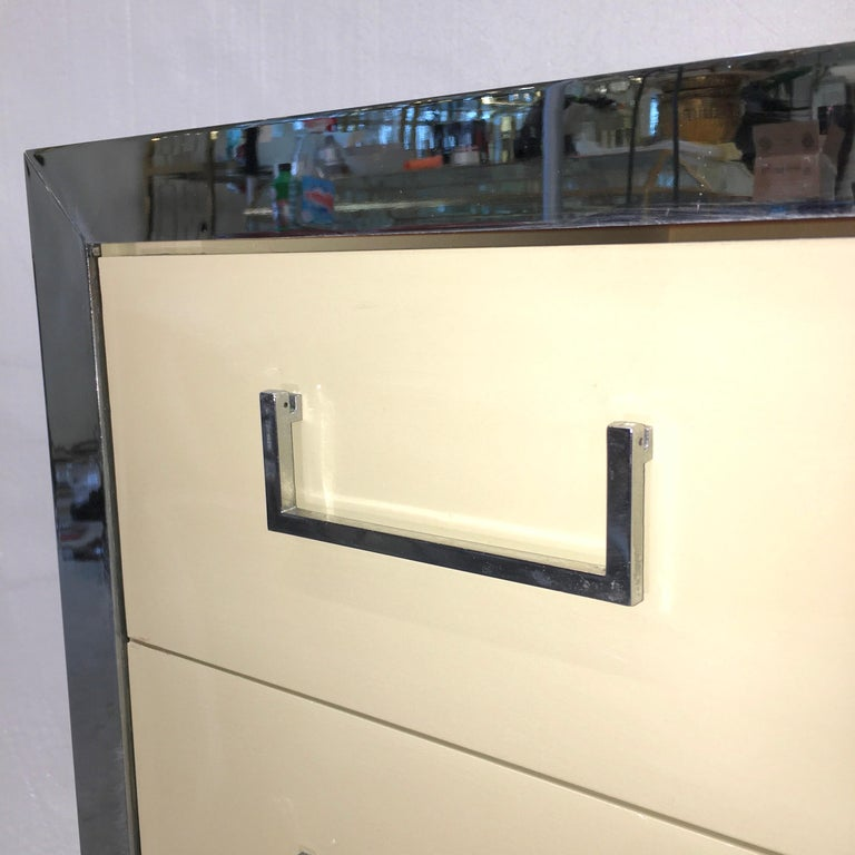 John Stuart Chrome and Lacquered Chest of Drawers For Sale 4