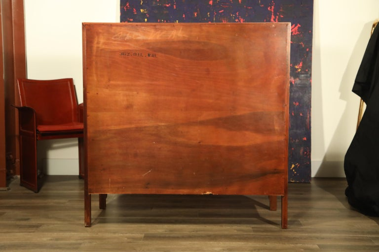 John Stuart for Janus Collection Walnut Highboy Dresser, Fully Restored For Sale 8
