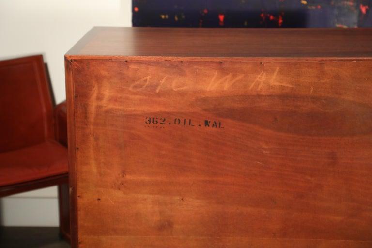John Stuart for Janus Collection Walnut Highboy Dresser, Fully Restored For Sale 9