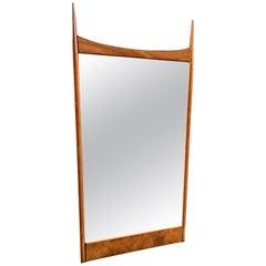 John Stuart for Widdicomb Walnut Mirror Designed by T.H. Robsjohn-Gibbings