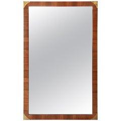John Stuart Hollywood Regency Rosewood Framed Mirror
