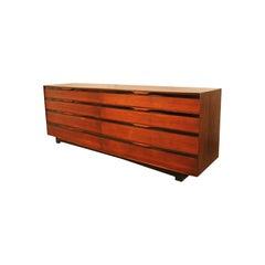 John Stuart Midcentury Long Walnut Dresser