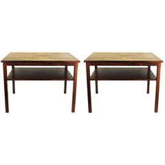 John Stuart Mid-Century Modern Side Tables with Two Levels