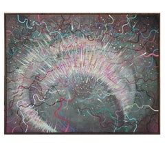 Explosive Expressionist Abstract Painting