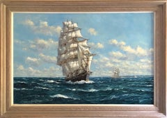 Oil Painting, Seascape, Sailing Boat 'Cutty Sark' By John Sutton RBA