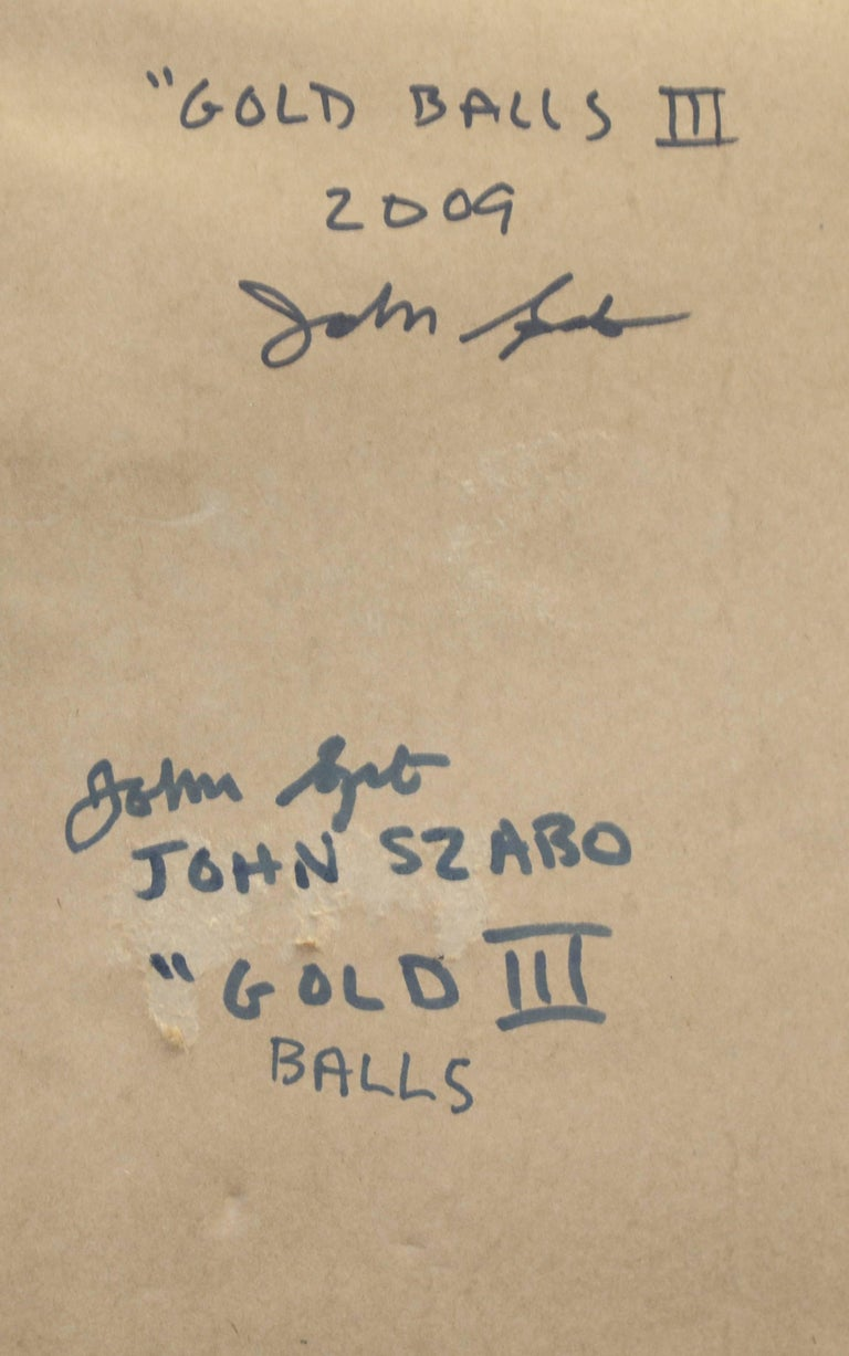 "John Szabo ""Gold Balls III"" Abstract on Paper For Sale 1"