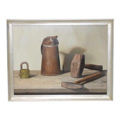 "John T. Axton III ""Tools of the Trade"" Original Realism Still Life Oil Painting"