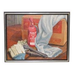 "John T. Axton III ""Work Bench"" Original Realism Still Life Oil Paint"