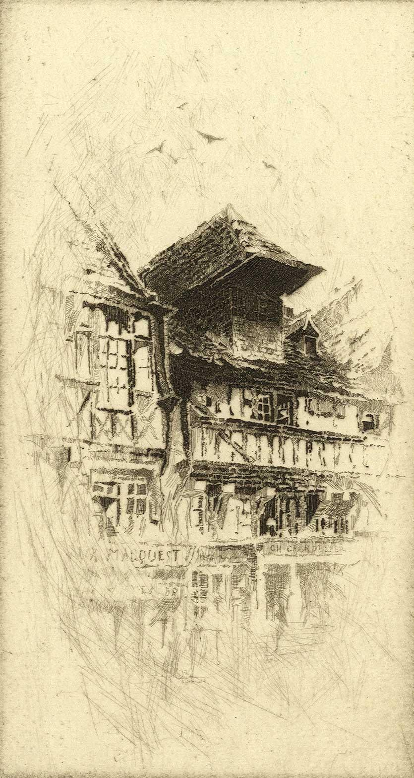 A Gable in the Grande Rue, Lisieux
