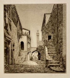 An Old Courtyard (Italy)