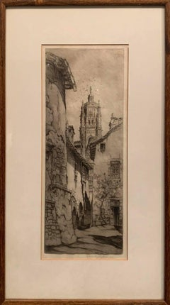 Black and White Etching -- Rodez
