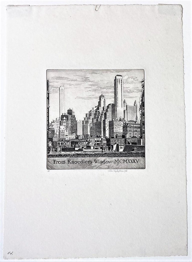 From Knoedler's Window MCMXXXV - Print by John Taylor Arms