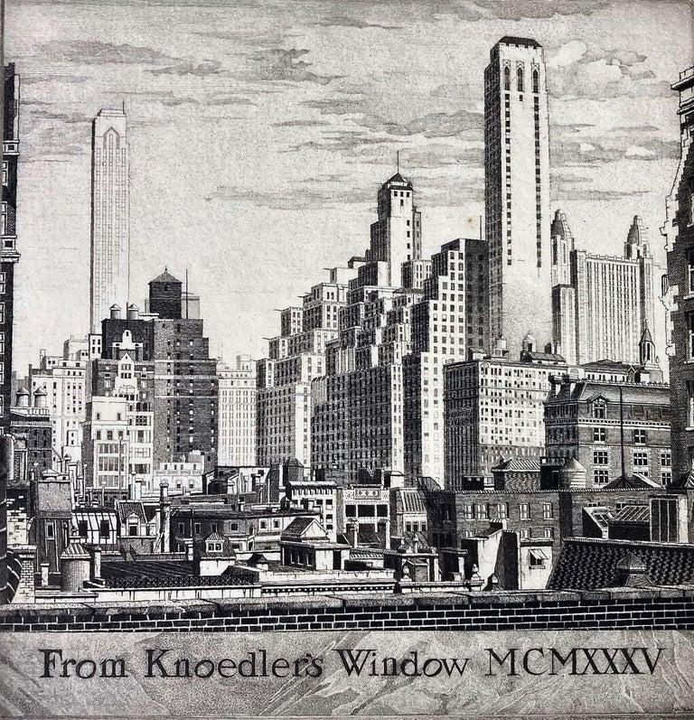 John Taylor Arms Landscape Print - From Knoedler's Window MCMXXXV