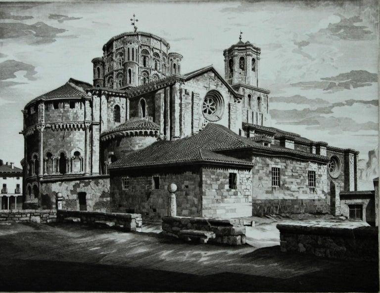 John Taylor Arms Landscape Print - La Colegiata, Toro [Spain]