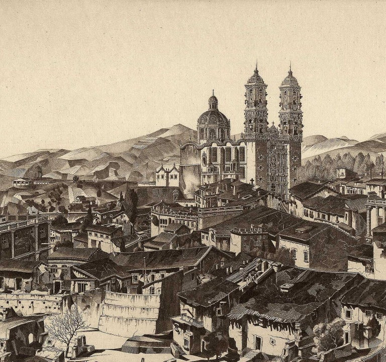 Light and Shade, Taxco Mexico - Print by John Taylor Arms