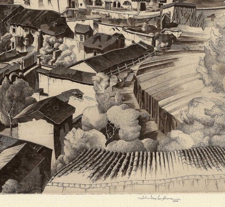 Light and Shade, Taxco Mexico - American Modern Print by John Taylor Arms