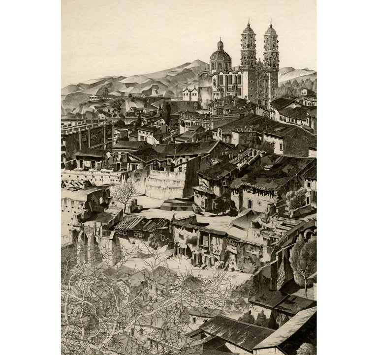 Light and Shade, Taxco (Mexican Series #2) - Print by John Taylor Arms