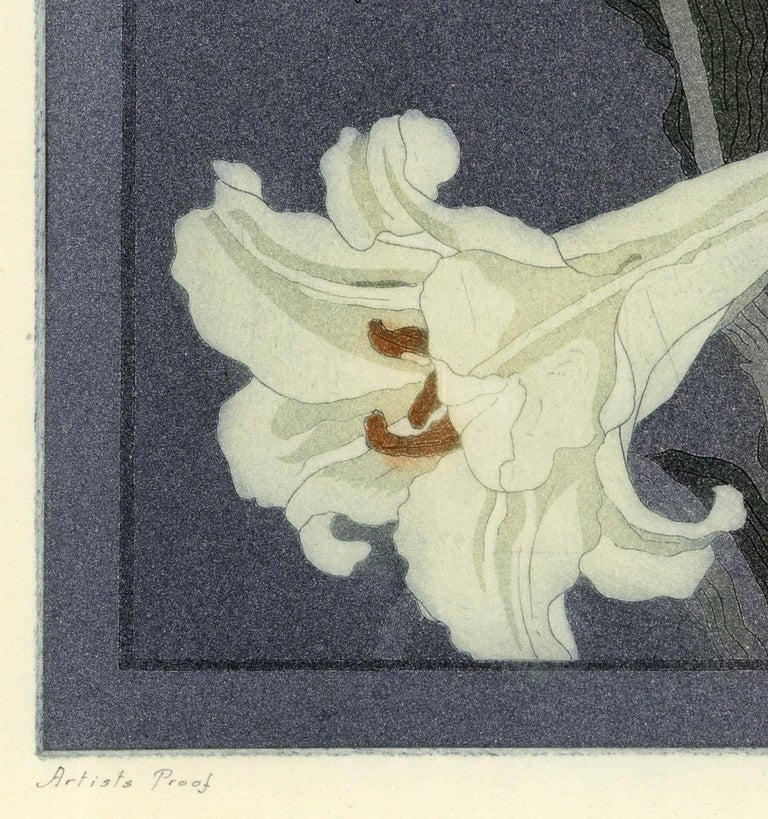 This etching and aquatint by John Taylor Arms was created in 1920.  It was printed in an edition of 100.  This impression is inscribed
