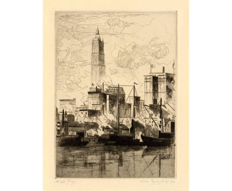 John Taylor Arms Landscape Print - New York Skyline