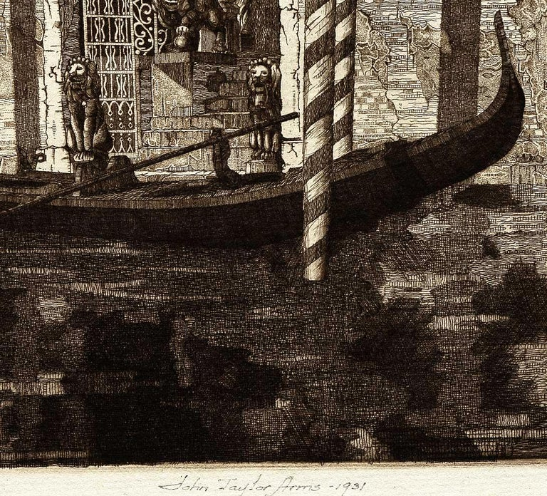Palazzo dell' Angelo, Venice Italy (#19 Italian Series) - American Modern Print by John Taylor Arms