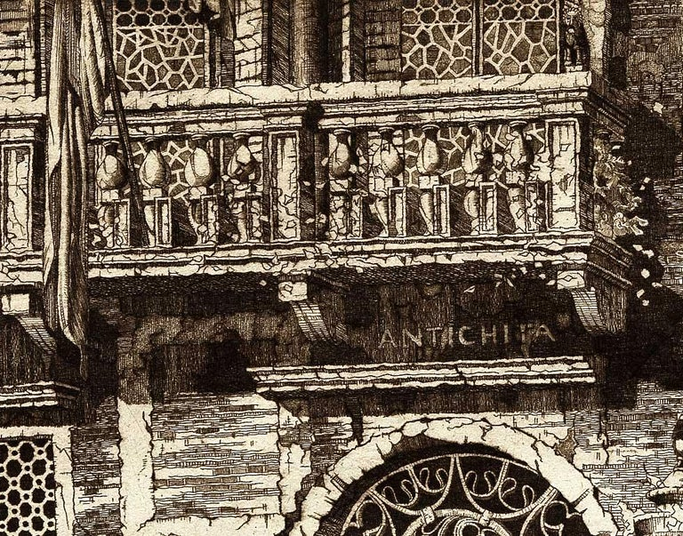 Palazzo dell' Angelo, Venice Italy (#19 Italian Series) - Black Landscape Print by John Taylor Arms