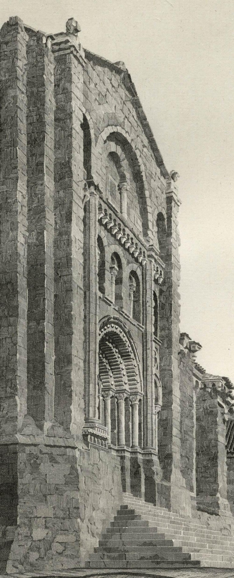 Puerta del Obispo ( Romanesque Spanish Cathedral) - Print by John Taylor Arms