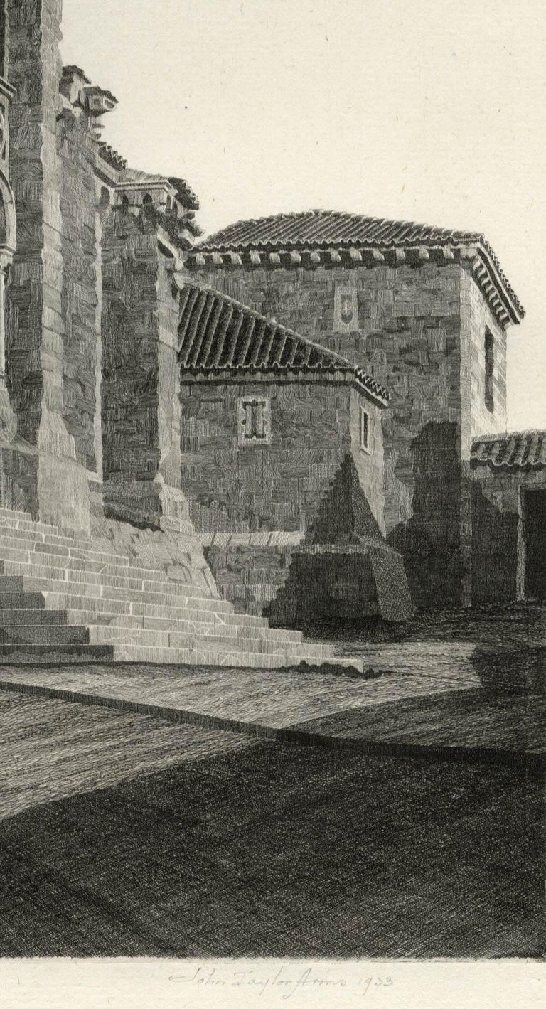 Puerta del Obispo ( Romanesque Spanish Cathedral) - American Modern Print by John Taylor Arms