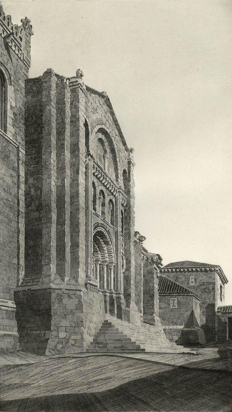 John Taylor Arms Print - Puerta del Obispo ( Romanesque Spanish Cathedral)