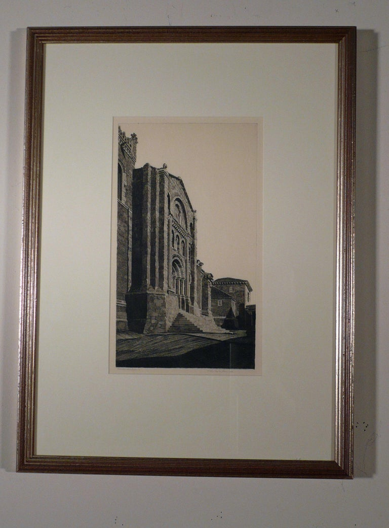 PUERTA DEL OBISPO, ZAMORA (THE BISHOP'S DOOR, ZAMORA).  - Print by John Taylor Arms