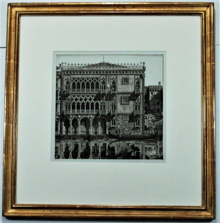 Venetian Filigree ( Cà D'Oro Venezia) - Gray Landscape Print by John Taylor Arms