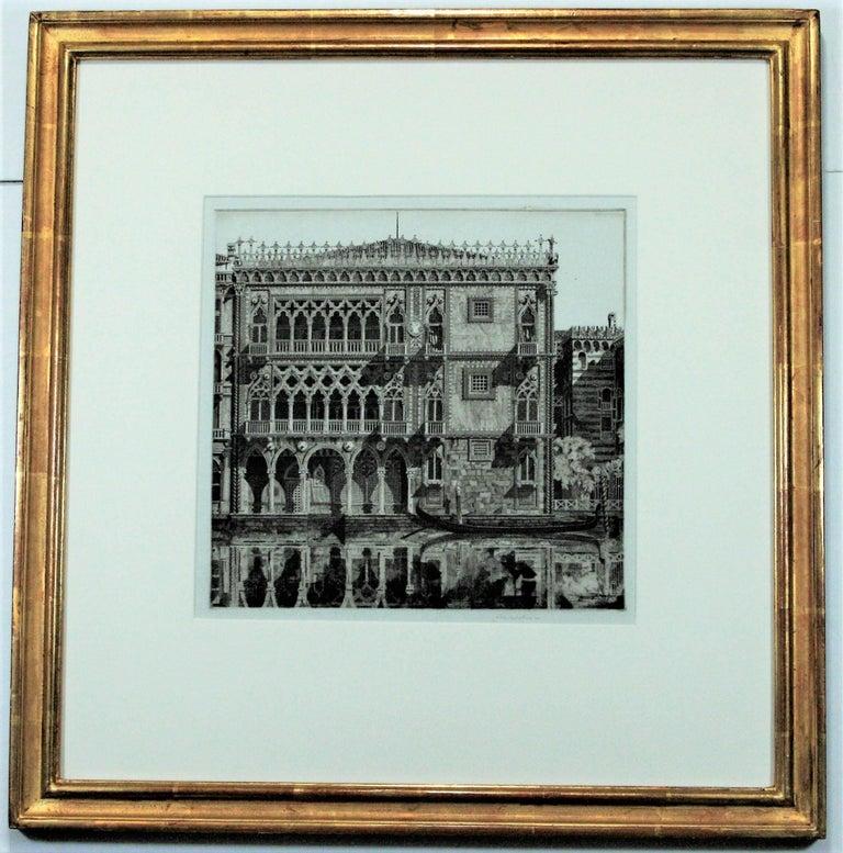 John Taylor Arms Landscape Print - Venetian Filigree ( Cà D'Oro Venezia)