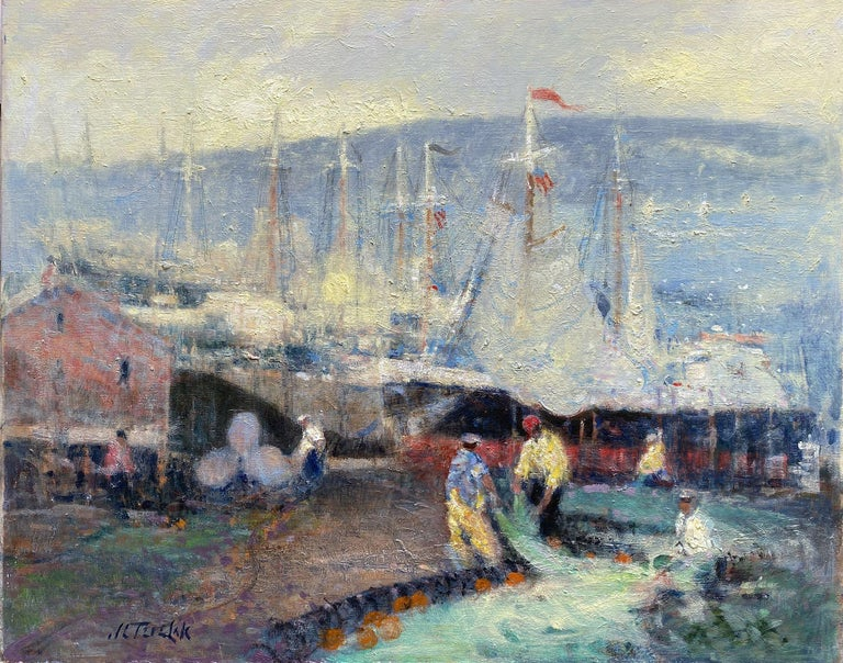 John Terelak Figurative Painting - Fishermen