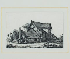 """Conversation Outside the English Country Cottage,"" Etching by John Thomas Smith"