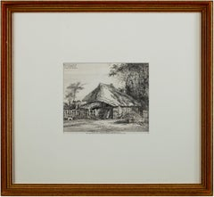 'Near Mrs. Teshmakers, Edmonton' original etching by John Thomas Smith