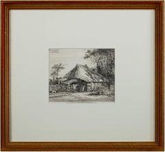'Near Mrs. Teshmakers, Edmonton' original etching by John Thomas Smith