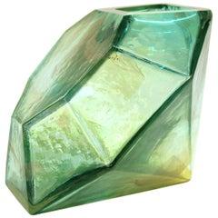 John Torreano Modern Faceted Jewel Art Glass Sculpture or Vase