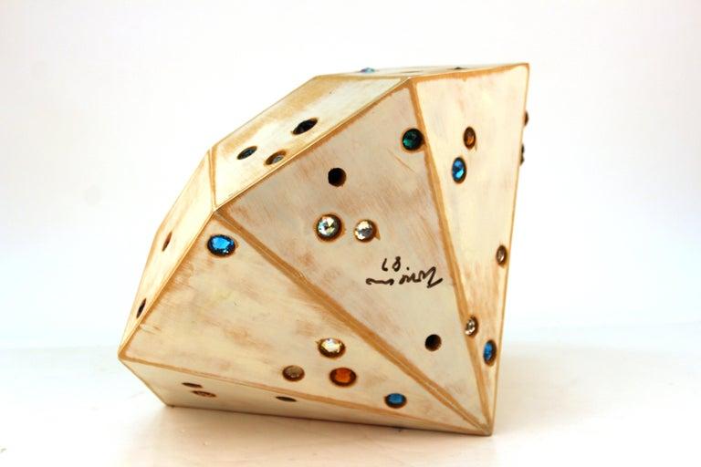 Glass John Torreano Modern Jewel Sculpture For Sale