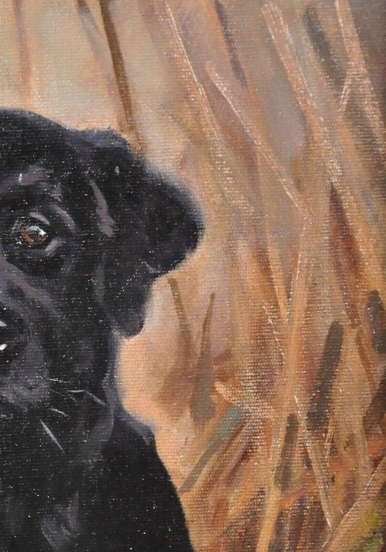 Black Labrador. Original Dog Oil Painting. John Trickett. 20th Century.  For Sale 8