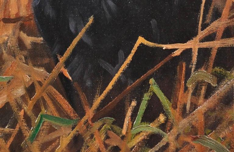 Black Labrador. Original Dog Oil Painting. John Trickett. 20th Century.  For Sale 12
