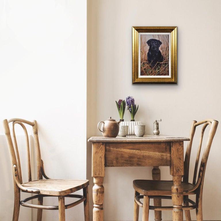 Black Labrador. Original Dog Oil Painting. John Trickett. 20th Century.  For Sale 3